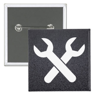 Garage Wrenches Icon 2 Inch Square Button