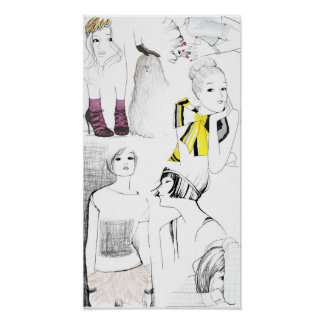garance dore sketches poster
