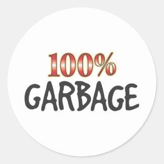 Garbage 100 Percent Sticker