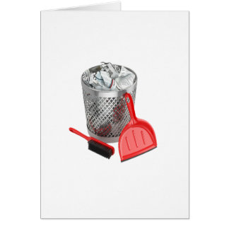 Garbage Bin And Dustpan Card