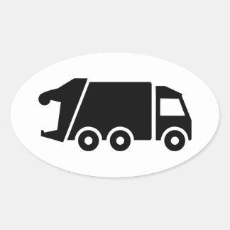 Garbage car truck oval sticker