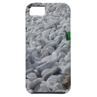 Garbage on the beach .Particular of a green bottle iPhone 5 Case
