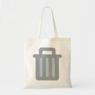 Garbage pail trash is budget tote bag