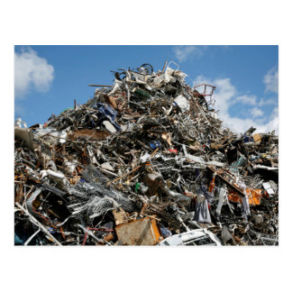Garbage Pile at the Dump Postcard
