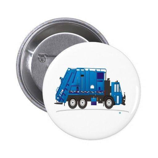 Garbage Truck 2 Inch Round Button