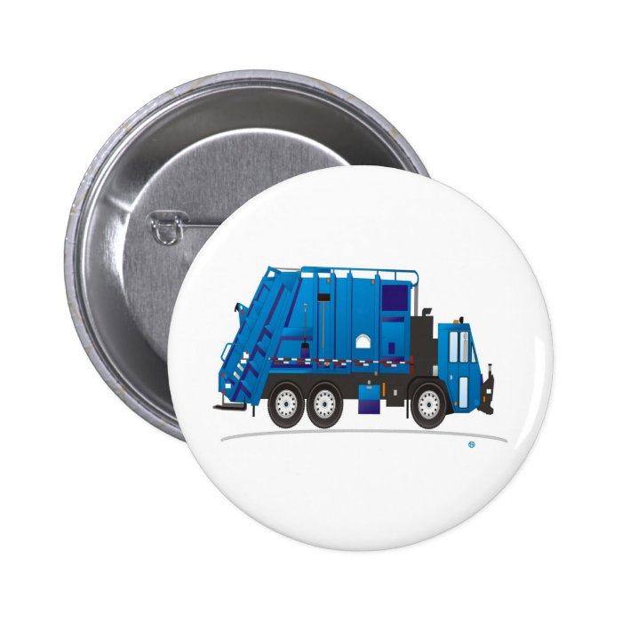 Garbage Truck 2 Inch Round Button