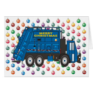 Garbage Truck Christmas Card