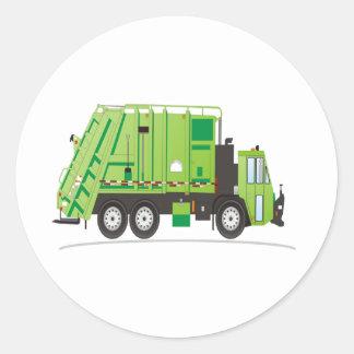 Garbage Truck Classic Round Sticker