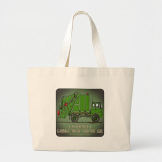 Garbage Truck Green Operator Quote Tote Bag