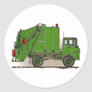 Garbage Truck Green Sticker