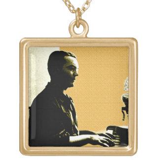 García Lorca at Piano Gold Plated Necklace