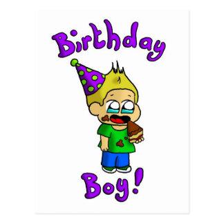 Garçon 1 d anniversaire carte postale