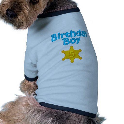 Garçon 5 d'anniversaire de shérif manteaux pour animaux domestiques