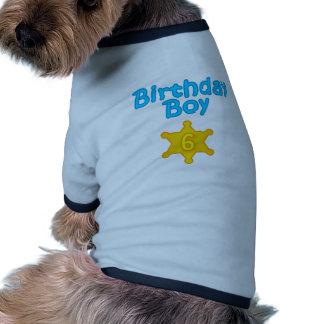 Garçon 6 d'anniversaire de shérif manteaux pour chien