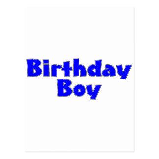Garçon d anniversaire bleu cartes postales