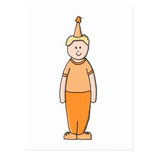 Garçon d anniversaire dans l orange cartes postales