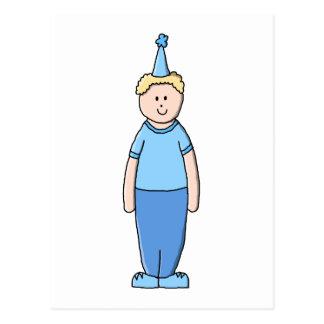 Garçon d anniversaire dans le bleu carte postale