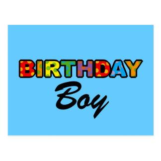 Garçon d'anniversaire carte postale
