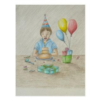 Garçon d'anniversaire cartes postales