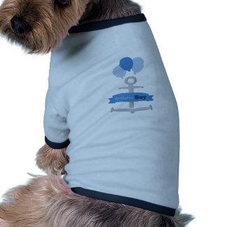 Garçon d'anniversaire manteaux pour chien