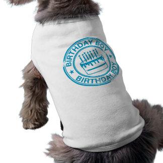 Garçon d'anniversaire - effet bleu de tampon en ca vêtements pour chien