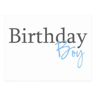Garçon d'anniversaire (manuscrit bleu) cartes postales