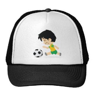 Garçon du football casquettes de camionneur