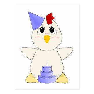 Garçon gentil à croquer d'anniversaire de poulet cartes postales