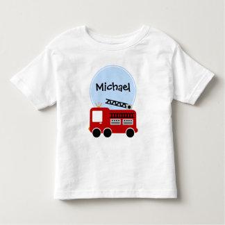 Garçon personnalisé de camion de pompiers t shirt