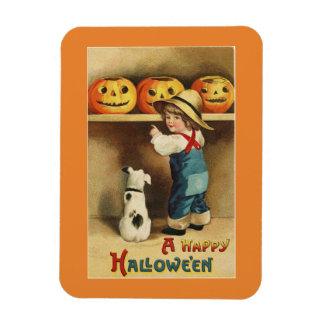 Garçon vintage de Halloween Magnet Flexible