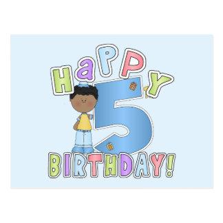 Garçons joyeux 5ème anniversaire, Afro-américain Cartes Postales