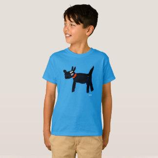Garçons - T-shirt de chien de Scotty de tinctorial