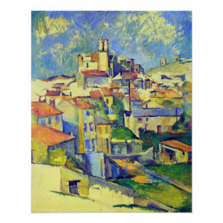 Gardanne by Paul Cezanne Poster