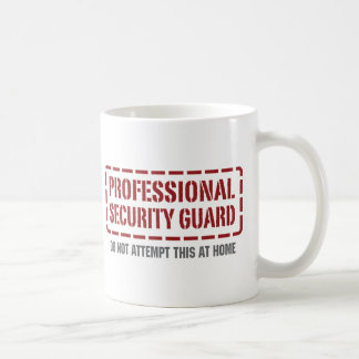 Garde de sécurité professionnel mug blanc