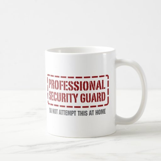 Garde de sécurité professionnel tasses