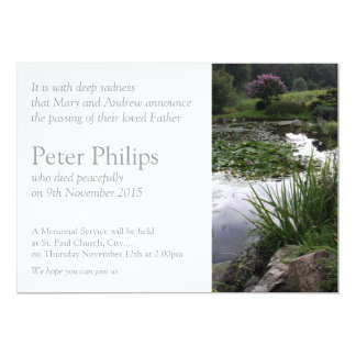 Garden 2 Peaceful Pond Funeral Announcement