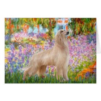 Garden - Afghan Hound (cream stand) Card