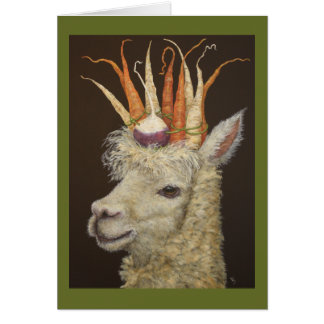 Garden Alpaca card