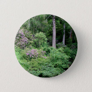 Garden and stream, highlands,Scotland 2 Inch Round Button