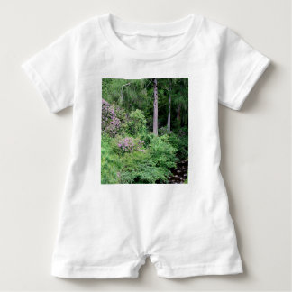 Garden and stream, highlands,Scotland Baby Romper