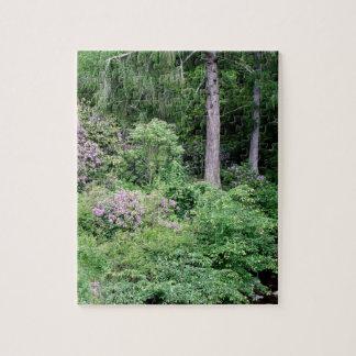 Garden and stream, highlands,Scotland Jigsaw Puzzle