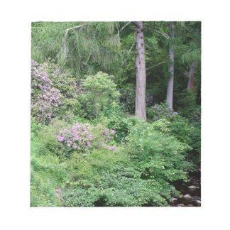 Garden and stream, highlands,Scotland Notepad