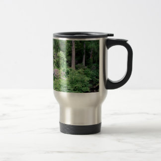 Garden and stream, highlands,Scotland Travel Mug