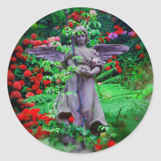 Garden Angel Classic Round Sticker