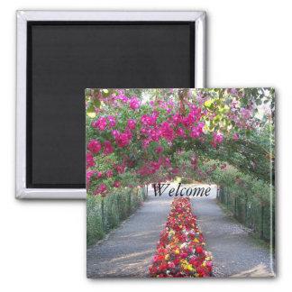 Garden Archway Floral Magnet