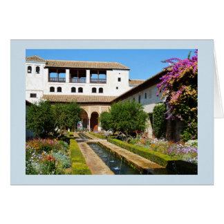 Garden at Alhambra Card