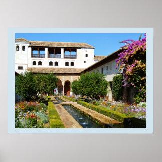 Garden at Alhambra Poster