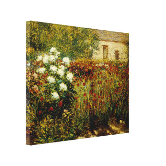 Garden at Giverny Canvas Print