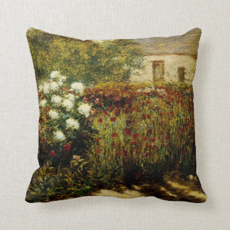 Garden at Giverny Throw Pillow