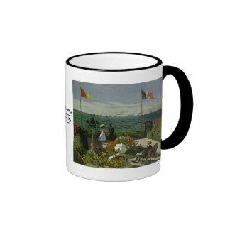 Garden at Saint Adresse by Claude Monet Ringer Coffee Mug